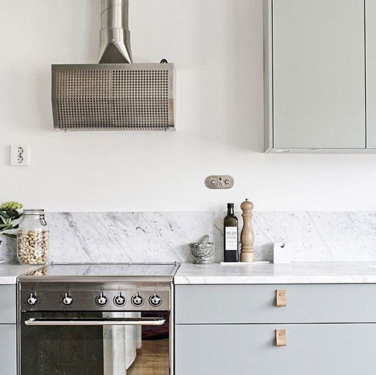 kitchen-green-cabinet-fronts-leather-pulls-marble-slab-backsplash-cococozy-shop-maybemay